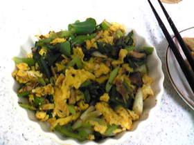 青ネギと玉子の炒め物
