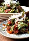 春菊と干し柿の韓国風サラダ