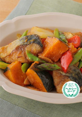 彩り野菜とさばの酢豚風