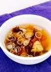 もずく酢でサンラータン風スープ