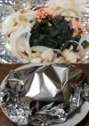天然ブナシメジ、銀鮭アラのホイル焼き^^