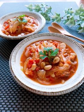 鯖水煮缶と大豆の簡単★トマト煮込み