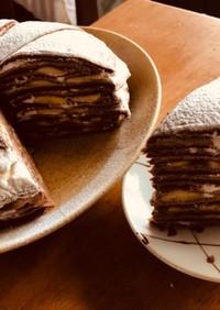 チョコバナナミルクレープ