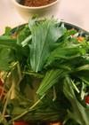 水菜と大根と長芋のサラダ