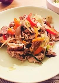 簡単シンプル  野菜と豚コマの炒め物