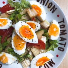 栄養満点★たっぷり野菜のゆで卵マリネ