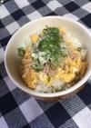 朝ご飯、ランチ☆バター香る卵とツナの丼