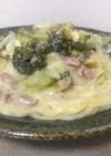 白菜とベーコンのクリームパスタ