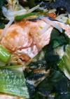 ホットプレートで、鮭のちゃんちゃん焼き