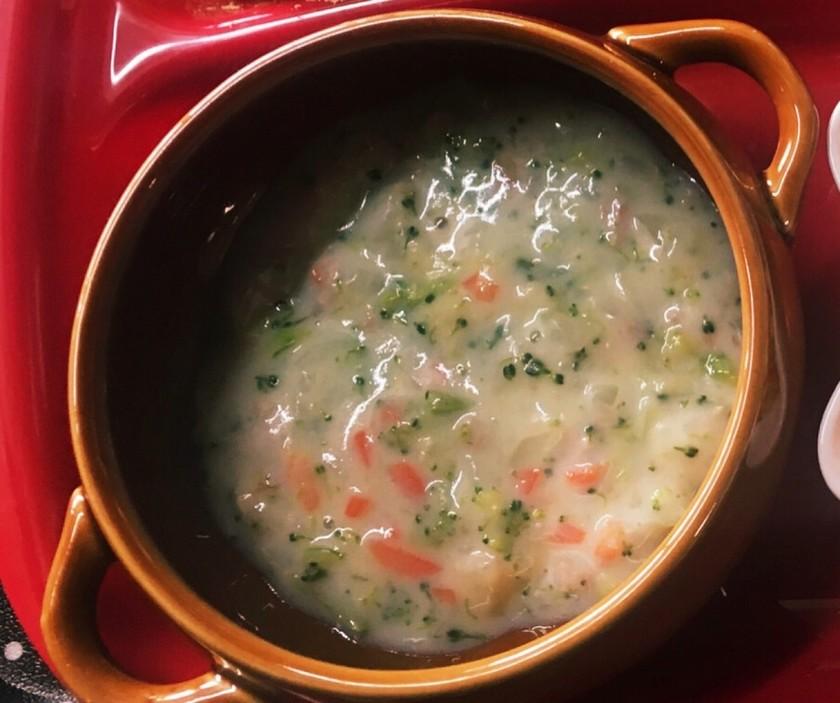 離乳食後期☆野菜と豚ひき肉の豆乳シチュー