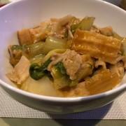 簡単白菜と豚バラと厚揚げのあんかけ丼の写真