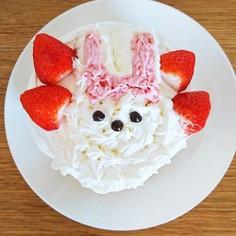 ☆うさぎショートケーキ☆