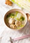 鍋の野菜で簡単!白菜と鶏団子の汁ビーフン