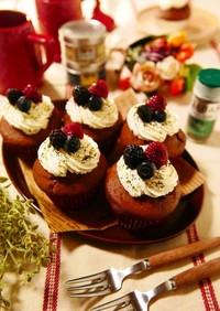 バレンタインに♪簡単ココアカップケーキ