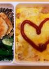 お弁当に!簡単レンジでチーズオムライス