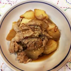 冬瓜と豚バラの甘辛炒め煮