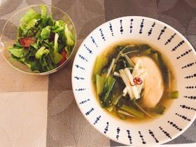 ささみと小松菜あったかスープ