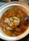 ケチャップでトマト風味のスープ