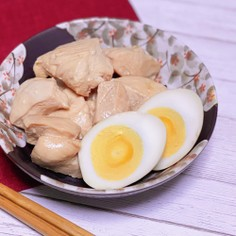 低糖質&低脂質!鶏むね肉と卵のさっぱり煮