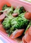 ウインナーと緑野菜の炒め物