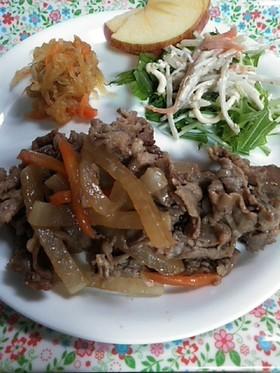 簡単♪牛肉と大根の焼肉のタレ炒め