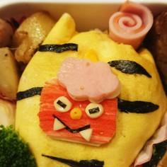 手抜き隠ぺい★時短オニライス弁当