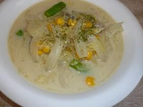 白菜たっぷり豆乳スープ