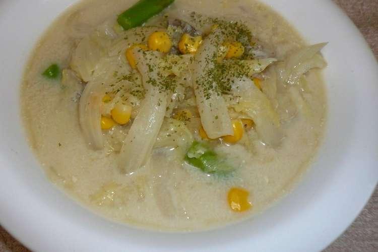 白菜 豆乳 スープ