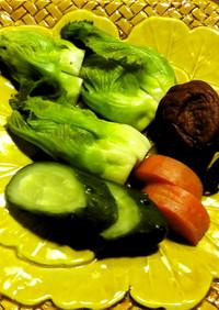 蕾菜の糠漬け
