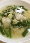 鶏むね肉とニラの玉子スープ