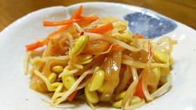 中華クラゲと豆もやし。