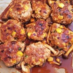 豚ひき肉と豆腐の肉団子ケチャップ煮
