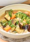 大豆と野菜と玄米甘酒のカレースープ