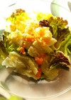 レタスと半熟卵のシーザーサラダ風