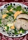 ルッコラと長葱のサラダライス