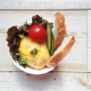 ポリ袋で湯煎『ハムのミニオムレツ』の写真