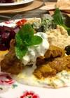 ラム肉のスパイス焼き ヨーグルトソース