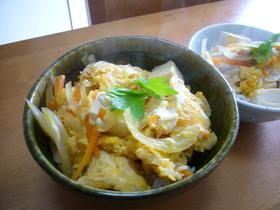 豆腐丼(親子丼風)