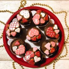 ♡バレンタインチョコカップケーキ♡