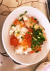 【簡単】鮭とイクラの炊き込みご飯