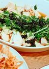 レンジで蒸し鶏~三葉·韓国海苔のせ~