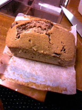 板チョコ入りパウンドケーキ(共立て)