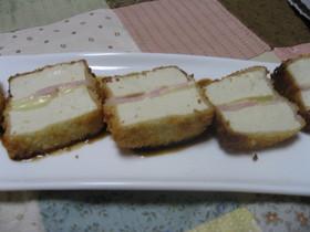 豆腐とチーズのフライ