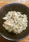 サバ缶と生姜と緑茶で!健康炊き込みご飯