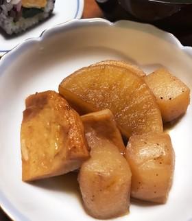 恵方巻きの椎茸の煮汁で簡単煮物♪