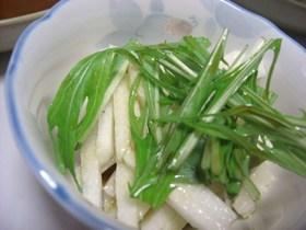 長いもと水菜のさっぱりサラダ