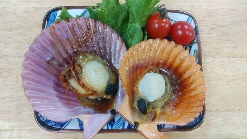 ヒオウギ貝のバター醤油