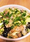 腸まで届く豚バラ白菜玉ねぎの卵とじ丼
