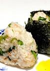 小松菜と鮭フレークのきんぴらおにぎり