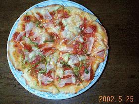 子供と作るレンジパンのピザ
